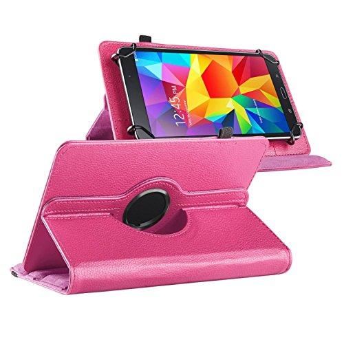ChannelExpert Hot Pink Folio 360° Ledertasche Schutztasche Schutzhülle Stand Cover für Samsung Galaxy Tab 7