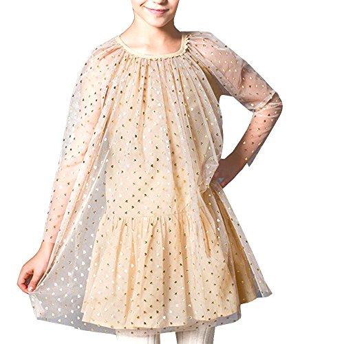 NACHEN Mädchen Kleid Sonnenbrille Suppe Prinzessin Kleider Sommer Mädchen Kleider , khaki , (Monate Alte Kostüme 18 Superhelden)