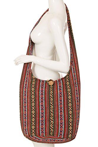 ThaiUK , Damen Schultertasche Mehrfarbig #82 #75