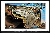 Salvador Dali Poster Clock Explosion (62x93 cm) gerahmt in: Rahmen schwarz