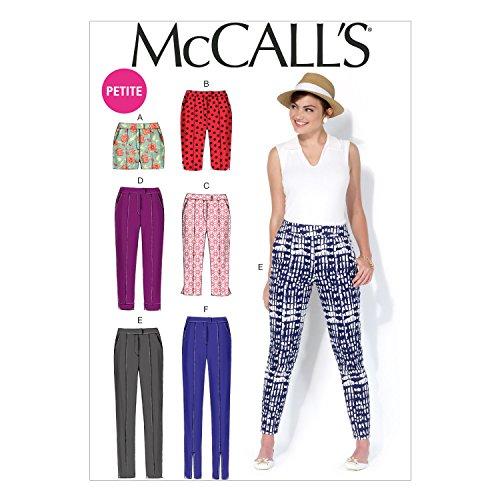 McCall's Patterns MC7098 E5 - Cartamodello per pantaloni e pantaloncini da donna, taglie: (Memorie Studio Collection)