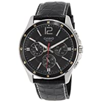 Casio Casual Watch Analog Display for Men MTP-1374L-1AVDF, Black