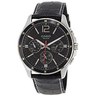 Casio Enticer Chronograph Black Dial Men's Watch – MTP-1374L-1AVDF (A834)