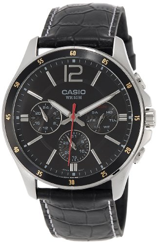 casio enticer chronograph black dial men's watch - mtp-1374l-1avdf (a834) Casio Enticer Chronograph Black Dial Men's Watch – MTP-1374L-1AVDF (A834) 51QTdqUdgKL