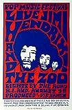 Jimi Hendrix Poster de concert (1) Re-Print Papier Premium 29 x 42 cm