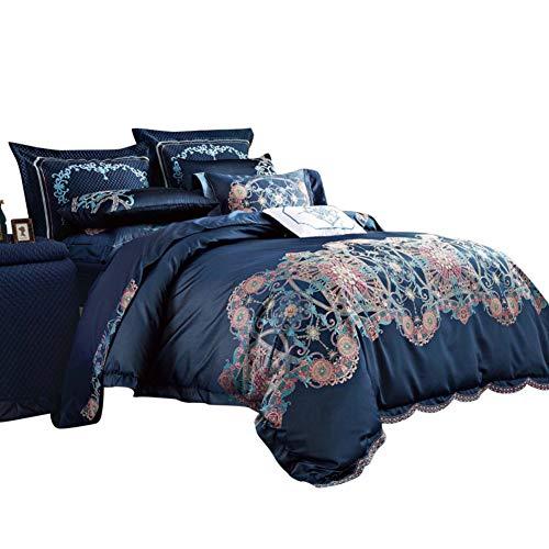 Baumwollsatin Luxus 10 stück Bettwäsche-Sets, Weich Und Gemütlich Jacquard Faux Seide Gebürstet Mikrofaser-unterstützung Bettwäsche-Sets tröster-A King -