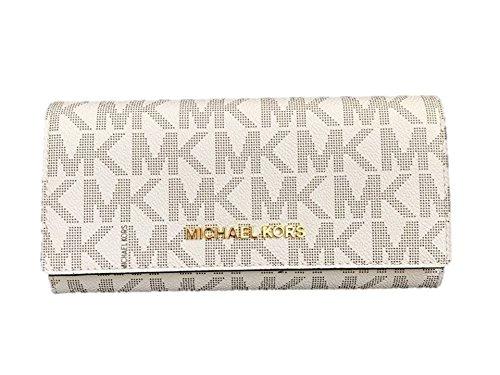 Michael Kors Geldbörse/Clutch, weiß, 3x10x20 cm, Echtes Leder, Damen, JET SET TRAVEL