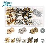 ZERHOK Snap Magnetico 30 PCS Fibbie in Metallo Chiusura con Una Scatola di plastica per Borsa Borse in Pelle Borse Zaini (3 Colori, 14mm / 18mm)