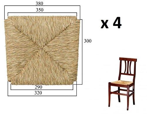 Ricambio per sedia telaio fondello fondino fondo seduta paglia mod. arte povera x 4