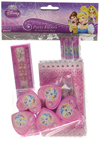 Amscan 20-Piece Princess Stationery Favor Party Accessory