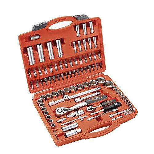 Alyco 192392 - Juego de llaves de vaso HR High Resistance 1/2-1/4 de 94 piezas en maletin plastico