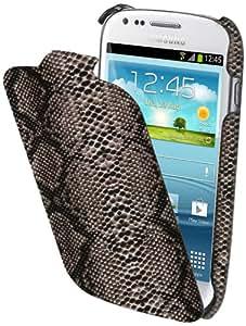 Muvit MUSNF0003 Etui flip avec Film de Protection d'écran pour Samsung Galaxy Mini S3 Noir