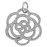 Thomas Sabo Blume Special Addition Anhänger mit Öse Silber mit weißen Zirkonia klein PE520-051-14