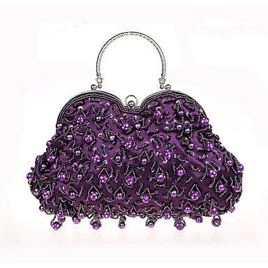 WZW Donna Poliestere Formale Casual Serata/evento Matrimonio Ufficio e lavoro Borsa da sera . champagne purple