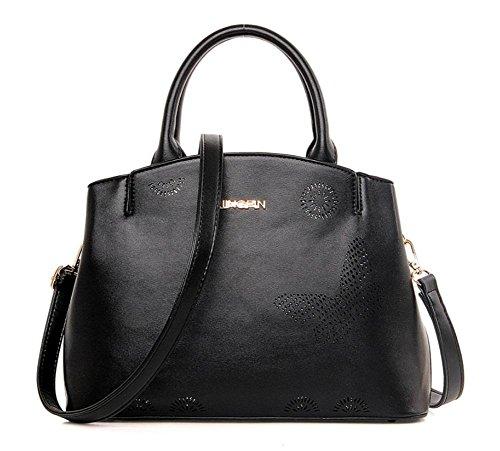 GBT Arbeiten Sie Handtaschen, Damentasche vielseitiges Paket Black