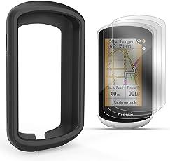 TUSITA Schutzhülle mit Displayschutzfolie für Garmin Edge Explore GPS - Silikon Schutzhülle Skin - Touchscreen Touring Bike Computer Zubehör