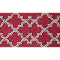 The Rug Market Pop Accents Jafar - Alfombra, Raspberry, 16 Inches x 27 Inches