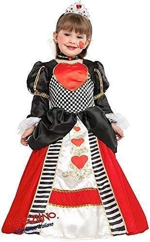 Fancy Me Italienische Herstellung Mädchen Deluxe Königin der Herzen Alice Im Wunderland Schule Welttag des Buches-Tage-Woche Kleid Kostüm Schuhe 3 - 10 Jahre - 7 - Kind Deluxe Alice Im Wunderland Kostüm