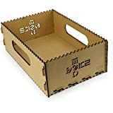 Motorize - Kisten aus Holz (MDF, vintage) kleine und große, steck-stapel-bar, zur Aufbewahrung, ohne Deckel, nicht wasserdicht - 1xI (336mm x 216mm x 112mm)