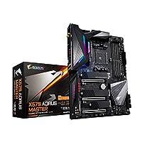 GIGABYTE X570 AORUS Master (AMD Ryzen 3000/X570/ATX/PCIe4.0/DDR4/USB3.1/ESS 9118 Sabre HiFi DAC/fins-Array Heatsink/RGB Fusion 2.0/3xM.2 الحماية الحرارية/اللوحة الأم للألعاب)