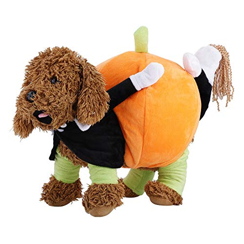 Fdit Hunde-Kostüm, lustiges Kürbis-Kostüm, hautfreundlich, für Halloween, Weihnachten, Festival, Geschenk
