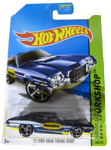 Hot Wheels 2014 Hw Workshop Performance Blue '72 Ford Gran Torino Sport 248/250 by Hot Wheels