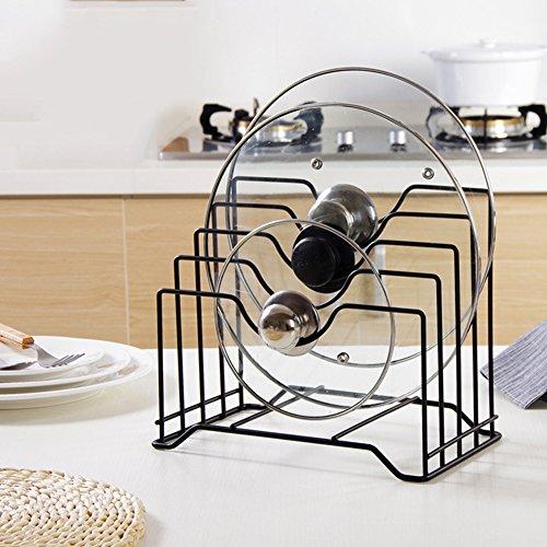 Organisieren-küche-speisekammer (Favourall 4 Topf Deckel Rack Halter Deckelhalter Organizer Schneidebrett Messer Lagerregal küche Speisekammer kochgeschirr)