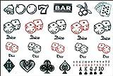 SPESTYLE wasserdicht ungiftig temporäre Tätowierung stickerslatest neue Design neue Version Männer und Frauen temporäre Tattoos wasserdicht Poker-Casino Fake Tattoo