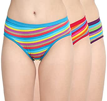 Womens Undergarments| Womens Underwears|Girls Panty|Cotton Panty for Ladies| Women's Cotton Hipster |MID Waist Hipster Organic Cotton Panty for Regular WEAR Pack of 3 Panty