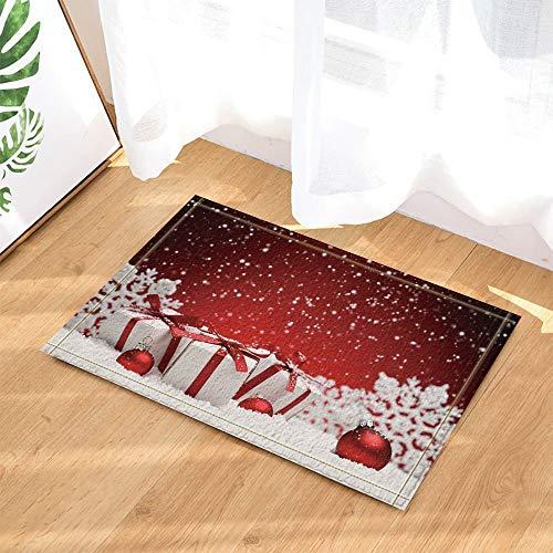 fdswdfg221 3D Digital Printing Gift for Kids Decor Shopping Mall During Christmas Bath Rugs Non-Slip Doormat Floor Entryways Indoor Front Door Mat Kids Bath Mat Bathroom