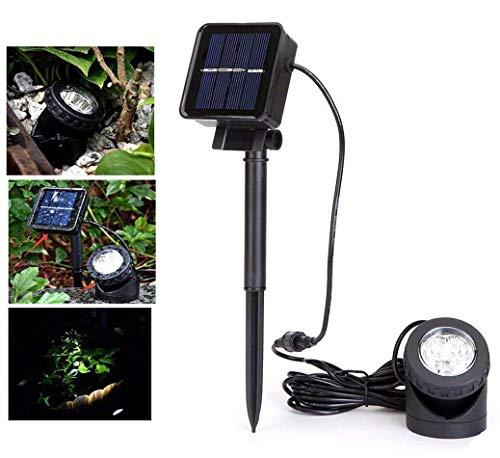 Lumière de Paysage Solaire Imperméable,DINOWIN 6 LED étang Piscine Sous-Marin lumières Imperméable IP68 pour piscine Extérieure, étang, jardin éclairage,Blanc