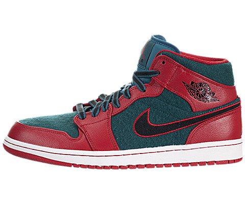 Jordan Air Jordan 1 Mid Hommes Vert Daim Chaussures Baskets de sport