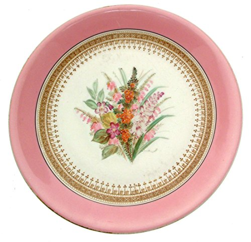 Hand Painted Dessert (Royal Worcester 9522 Hand painted Pink Floral Dessert Items 9 Inch Dessert plate by Royal Worcester)