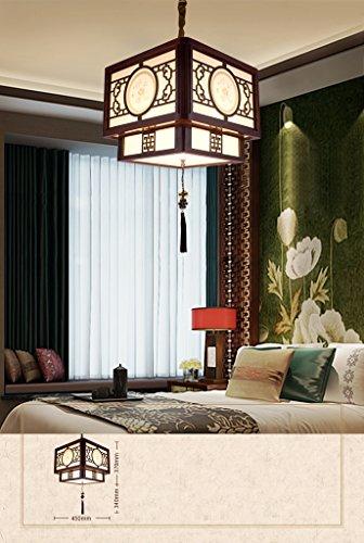 Preisvergleich Produktbild Chinesische antike hölzerne Kronleuchter-Gaststätte-Kronleuchter-Treppen-Kronleuchter Retro- hölzerne Kronleuchter (ohne Lichtquelle)