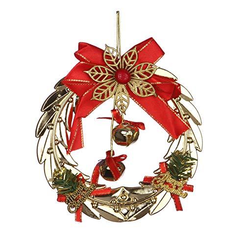 Lmhsdjz decorazioni natalizie ciondolo campanelli natalizi creativi, ghirlande natalizie, porte in vetro, decorazioni per finestre, ciondoli, campane dorate dei cervi