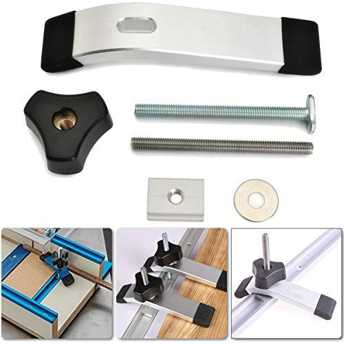 Praktisch und praktisch T-Nut Clamp Schnellwirkende Niederhalter T-Track Clamp Set für Holzbearbeitung