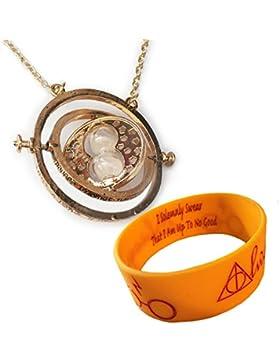 Gold Stunde Glas Halskette