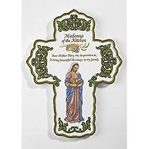 """Madonna de la Croix de cuisine Home Decor 12,7cm wx6.5""""H New"""