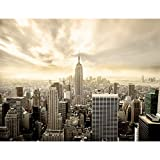 Fototapeten New York 352 x 250 cm Vlies Wand Tapete Wohnzimmer Schlafzimmer Büro Flur Dekoration Wandbilder XXL Moderne Wanddeko 100% MADE IN GERMANY -Stadt City NY Runa Tapeten 9005011b