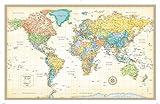 Rand McNally Classic World Wall Map -