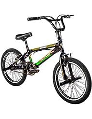 """F.lli Schiano Hard Road BMX - Bicicleta para hombre, color negro / verde, 20"""""""