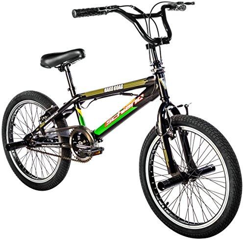 F.lli Schiano Hard Road Bmx 20 Bicicletta, Multicolore (Nero/Verde), M