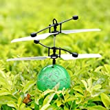 RC Spielzeug, RC Flying Ball, RC Infrarot Induktion Hubschrauber Flying Demon Ball Aircraft Frisbee Katapult Shooting Spiel Kinder Spielzeug für Kinder, Jugendliche Colorful flyings für Kid 's Toy (rot)