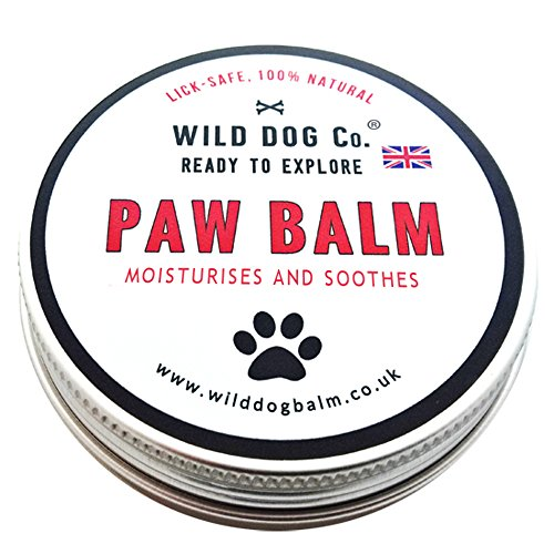 Dog Paw Balm natural organic soother for cracked, dry, itchy paws and pads. Ointment paw butter for dogs. Cruelty-free, soothing, moisturising, anti-fungal, transforms cracked, rough dry paws. 60mls