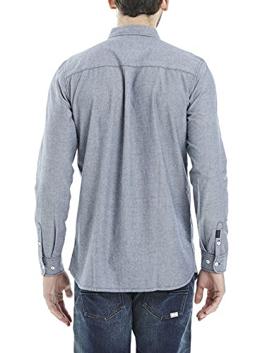 Bench Herren Freizeit Hemd Notes Blau (Dark Navy Blue NY031)