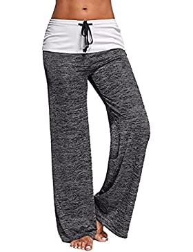 Casual Plain Loose Harem Beach Trousers Mxssi Women Yoga Pants Pierna ancha Pantalones largos