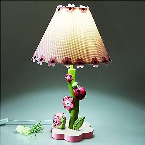 LGK&FALampes de table de chevet et lampe de chevet enfants Cartoon lumière chaude belle fille Décoration de lampe réglable 27*43cm rose Gradateur
