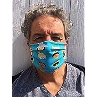 MUNDMASKE, NASENMASKE für Kinder und Erwachsene in 2 Größen BIO BAUMWOLLE Behelfsmaske