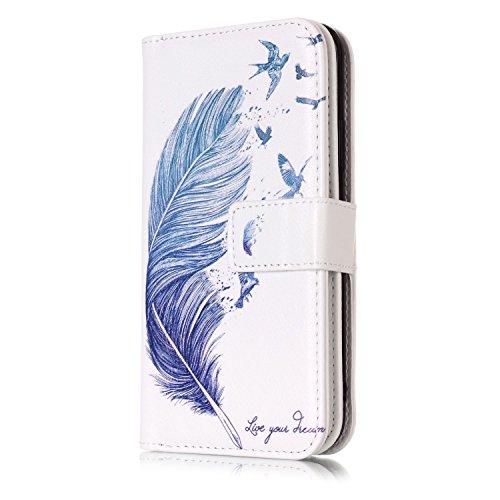 iPhone 8 Plus 5.5 Pouces Housse, Vandot 2 en 1 PU Cuir Coque Ultra Slim Flip Magnetic Etui Motif de Marbre Housse Marble Pattern Case Couverture pour iPhone 8 Plus 5.5 Pouces Portefeuille Case avec St DKW-09