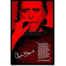 Charles Bukowski forografía en afiche o póster 2 Lámina artística y original para regalo 30x20 cm